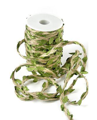 Шнур декор. 30/01-40 шнур с зелеными листьями (25м) арт. МГ-91353-1-МГ0791170