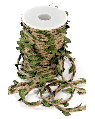 Шнур декор. 30/01-45 шнур с салатовыми листьями (25м) арт. МГ-91175-1-МГ0791171