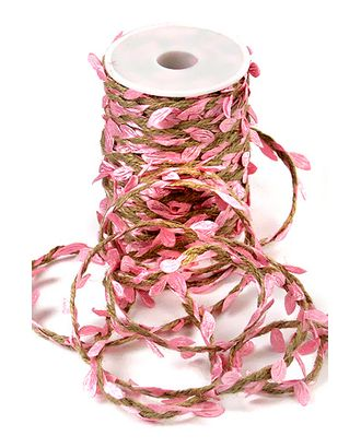 Шнур декор. 30/01-61 шнур с розовыми листьями (25м) арт. МГ-91467-1-МГ0791172