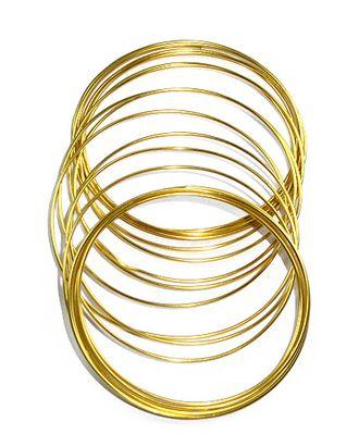 Проволока 115/75 круглая- золото (Ø1,5мм х 5м) арт. МГ-91327-1-МГ0792510
