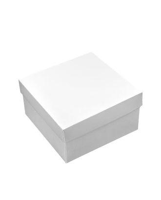 Коробка белая 136/00 квадрат ( 15х15х8см ) арт. МГ-90615-1-МГ0792639