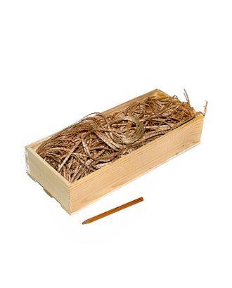 Коробка деревянная 111 прямоуг. + наполнитель + шнур ( 33х13х6см ) арт. МГ-91142-1-МГ0792654