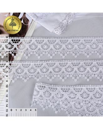 Кружево гипюр KRUZHEVO ш.4,4см цв.01 белый арт. МГ-91859-1-МГ0795202