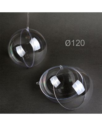 Шар пластиковый прозрачный половинками д.120 мм арт. МГ-94964-1-МГ0796950