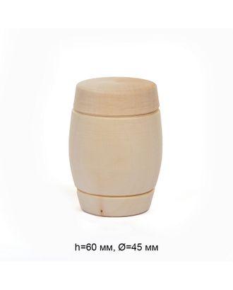 Солонка с крышкой деревянная липа h60мм, д.45мм Magic 4 Hobby арт. МГ-92809-1-МГ0798837