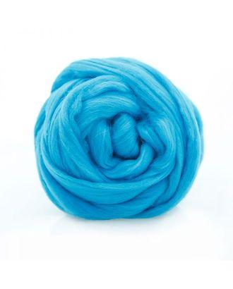 """Шерсть для валяния ТРО """"Гребенная лента"""" (100%полутонкая шерсть) 100г цв.0474 голубая бирюза арт. МГ-94524-1-МГ0799470"""