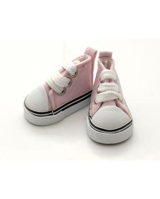 Кеды для кукол размер подошвы 5см выс.3,3см пара, цв.розовый арт. МГ-94798-1-МГ0800927