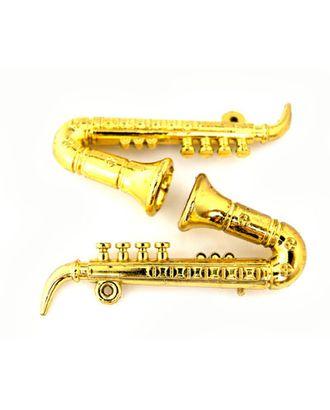 Саксофон пластик цв.золото 75мм уп.2шт. арт. МГ-95013-1-МГ0801204