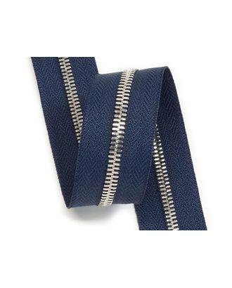 Молния рулонная металл №5СТ никель цв.D117 т.синий уп.5м арт. МГ-93182-1-МГ0805364