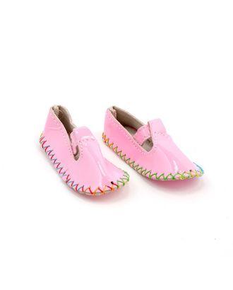 Туфли для куклы 4/01 80х35мм высота 20мм, цв.розовый 1 пара арт. МГ-93253-1-МГ0810094