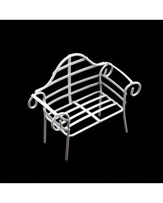 Скамейка Y-119 металл р.11х4,5х9см арт. МГ-93219-1-МГ0810536
