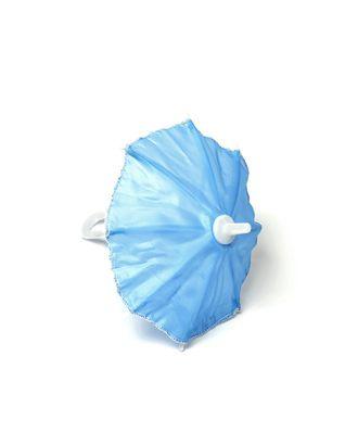 Зонт маленький 16см пластмассовый цв.голубой арт. МГ-90941-1-МГ0810882