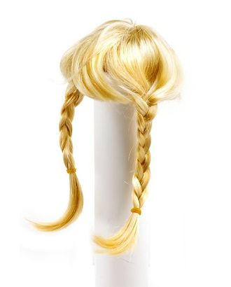 Волосы для кукол П80 (косички) цв.блондин арт. МГ-90771-1-МГ0811446