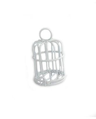 Клетка Y-4535/1 4,5х3,5 см металл цв.белый арт. МГ-91775-1-МГ0812328