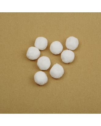 Помпоны TBY из пряжи 0,7г/шт д.2см цв.белый арт. МГ-97738-1-МГ0815713