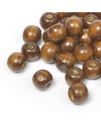 Бусины деревянные MAGIC HOBBY цв.1 т.коричневый уп.40г 12мм, in Ø3 мм 75±3 шт арт. МГ-96549-1-МГ0849923