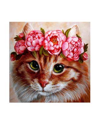 Картины по номерам Molly Пушистая красотка (21 цвет) 30х30 см арт. МГ-95146-1-МГ0859746