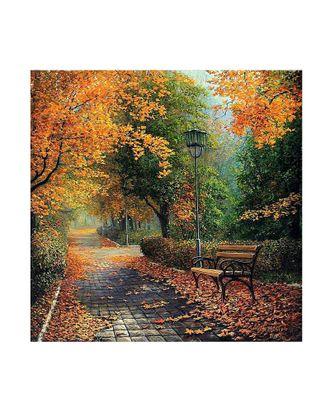 Картины по номерам Molly В осеннем парке (17 цветов) 30х30 см арт. МГ-95069-1-МГ0859747