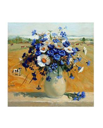 Картины по номерам Molly Ромашки с васильками в вазе (17 цветов) 30х30 см арт. МГ-95191-1-МГ0859753