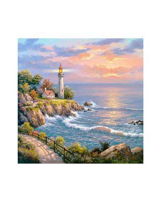 Картины по номерам Molly Маяк на заливе (20 цветов) 30х30 см арт. МГ-95293-1-МГ0859761