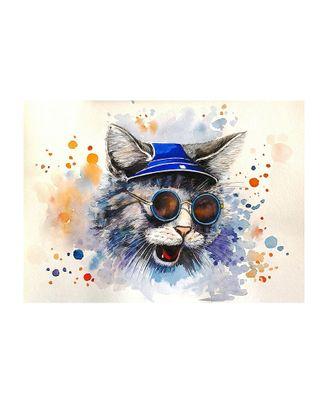 Картина по номерам с цветной схемой на холсте Molly Кот-рокер (19 цветов) 30х40 см арт. МГ-96345-1-МГ0859781