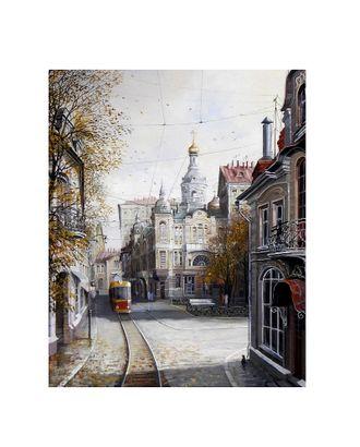 Картина по номерам с цветной схемой на холсте Molly Ушедшая Москва (19 цветов) 30х40 см арт. МГ-96354-1-МГ0859790