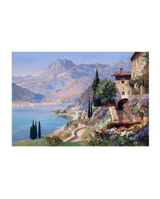Картина по номерам с цветной схемой на холсте Molly Италия. Озеро Комо (20 цветов) 30х40 см арт. МГ-96366-1-МГ0859792