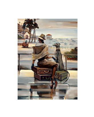 Картина по номерам с цветной схемой на холсте Molly Путешественница (18 цветов) 30х40 см арт. МГ-96310-1-МГ0859801