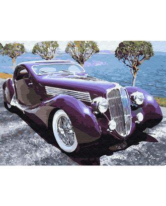 Картина по номерам с цветной схемой на холсте Molly Ретро автомобиль (22 цвета) 30х40 см арт. МГ-95052-1-МГ0859806