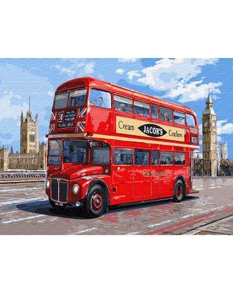 Картина по номерам с цветной схемой на холсте Molly Автобус Лондона (21 цвет) 30х40 см арт. МГ-95193-1-МГ0859810
