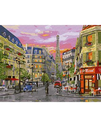 Картина по номерам с цветной схемой на холсте Molly Парижская улица (24 цвета) 30х40 см арт. МГ-95251-1-МГ0859813