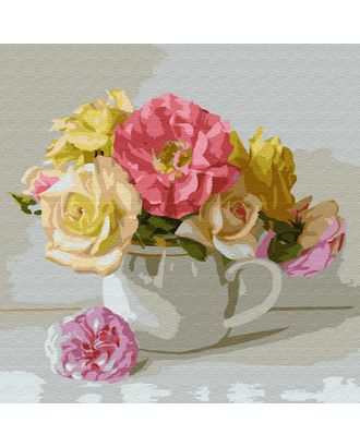 Картины по номерам Molly Бузин. Букетик (23 цвета) 30х30 см арт. МГ-95255-1-МГ0860076
