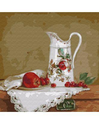 Картины по номерам Molly Бузин. Натюрморт с белым кувшином (20 цветов) 30х30 см арт. МГ-95261-1-МГ0860081