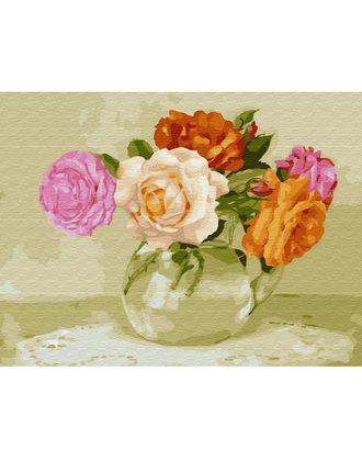 Картина по номерам с цветной схемой на холсте Molly Бузин. Розочки (22 цвета) 30х40 см арт. МГ-95183-1-МГ0860093