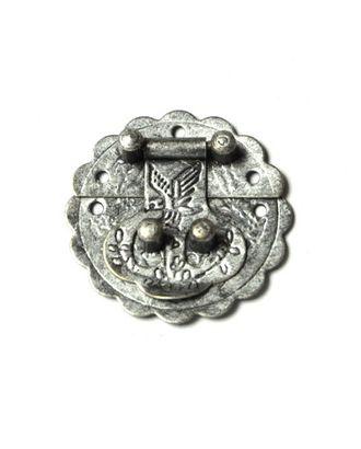 ШЗМ10.0.4 Декоративный замок для шкатулок из 2-х частей Античное серебро 30х30мм арт. МГ-98782-1-МГ0873334