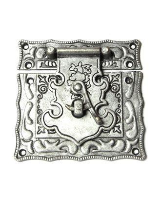 ШЗМ13.0.4 Замок накладной уп.1 шт. Античное серебро 67х56мм арт. МГ-98780-1-МГ0873335