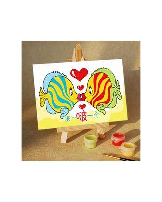 Раскраски по номерам Подводный поцелуй MA083 10х15 тм Цветной арт. МГ-101828-1-МГ0879469
