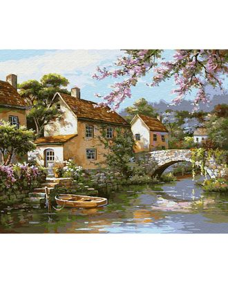 Картины по номерам на дереве Molly У канала (26 цветов) 40х50 см арт. МГ-96702-1-МГ0910168