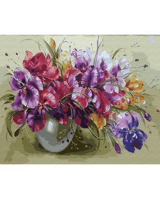 Картины по номерам на дереве Molly Яркий букет (28 цветов) 40х50 см арт. МГ-96681-1-МГ0910169