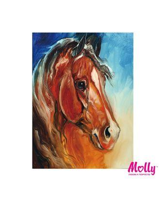 Картины по номерам Molly Рыжий конь (12 цветов) 15х20 см арт. МГ-96635-1-МГ0910183