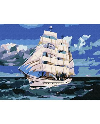 Картины по номерам Molly Корабль в море (14 цветов) 15х20 см арт. МГ-96684-1-МГ0910201