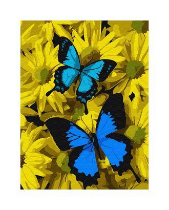 Картины по номерам Molly Синие бабочки в цветах (13 цветов) 15х20 см арт. МГ-96686-1-МГ0910202