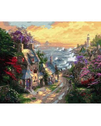 Картины по номерам Molly Деревня у берега моря (28 цветов) 40х50 см арт. МГ-98788-1-МГ0931696