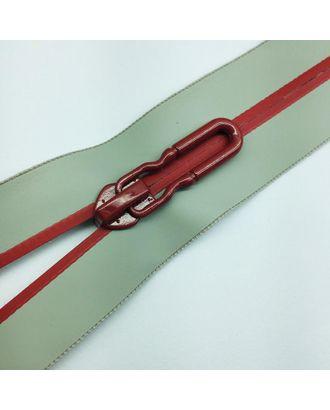 Молния водостойкая Т7В4 полоса блеск н/р 18см серый 225/красный 171 арт. МГ-100687-1-МГ0947430