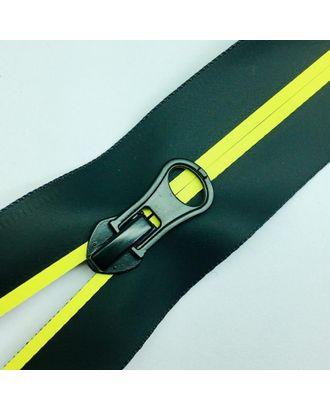 Молния водостойкая Т7В5 полоса матовый н/р 16см черный/желтый 001 арт. МГ-100680-1-МГ0947443