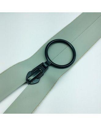 Молния водостойкая Т7В6 одноцвет н/р 18см серый 132 черное кольцо арт. МГ-100684-1-МГ0947453