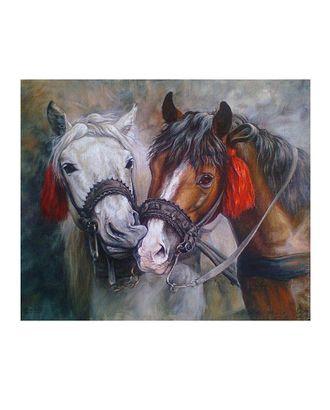 Картины по номерам Molly Красивые лошади (20 цветов) 30х30 см арт. МГ-101245-1-МГ0947800