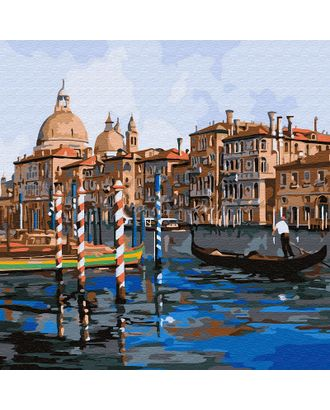 Картины по номерам Molly Каналы Венеции (20 цветов) 30х30 см арт. МГ-104300-1-МГ0951384