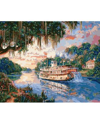 Картины по номерам Molly Речная прогулка (27 цветов) 40х50 см арт. МГ-104183-1-МГ0953504