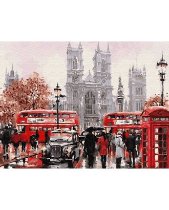 Картины по номерам Molly Лондонский транспорт (28 цветов) 40х50 см арт. МГ-104286-1-МГ0953515